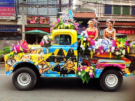 Pre party parade