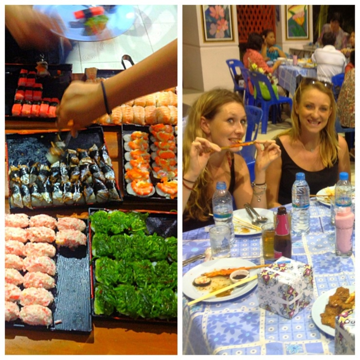 As with any dinner party in Thailand, the food was amazing...hello sushi bar