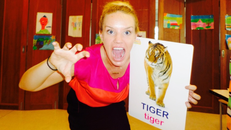 You gotta watch your back in this classroom. Nice Teacha can turn into angry Tiger real quick.