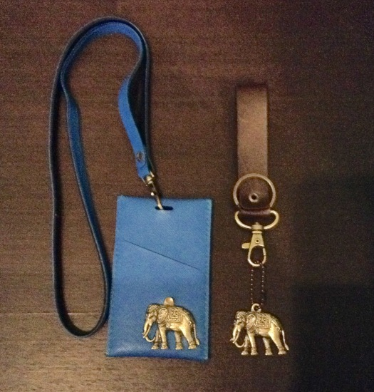 ID holder and keyring